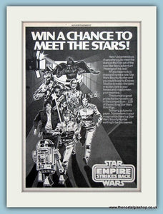 The Empire Strikes Back Star Wars And Competition Set Of 2 Original Adverts 1982 (ref AD6468)