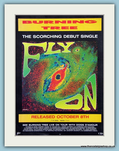 Burning Tree Fly On 1990 Original Advert (ref AD3288)