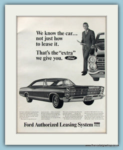 Ford Authorized Leasing System Original Advert 1967 (ref AD8307)