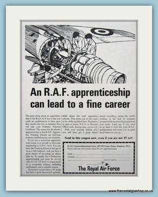 R.A.F Apprenticeship With Coupon Original Advert 1965 (ref AD6296)
