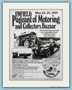 Enfield Pageant of Motoring 1986. Original Advert. (ref AD2011)