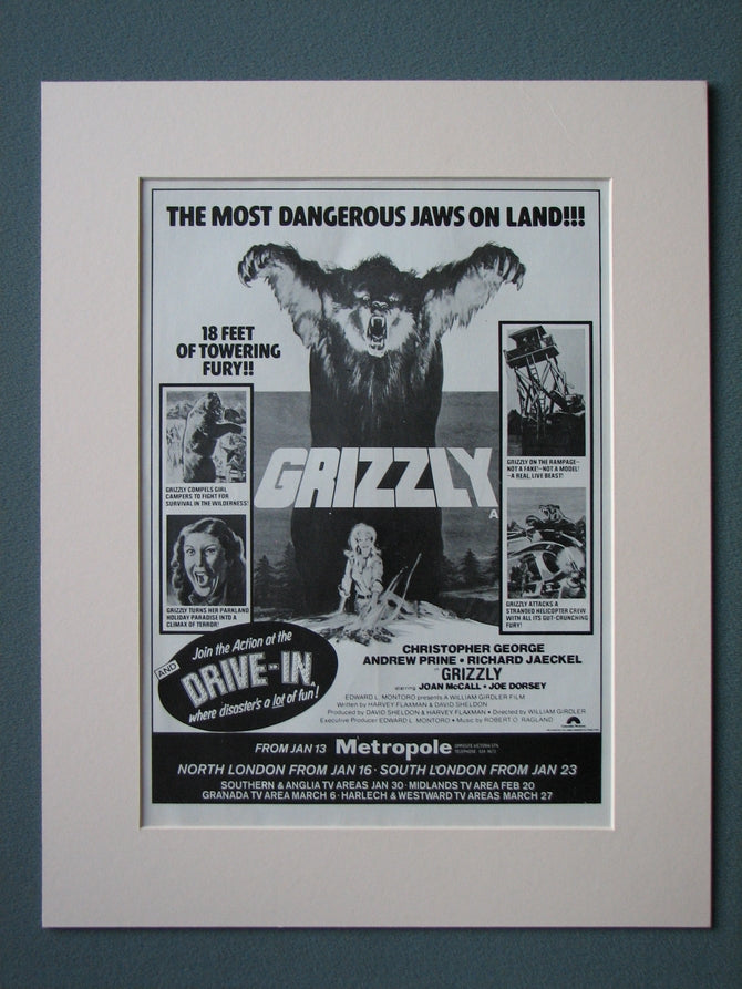 Grizzly 1977 Original advert (ref AD512)