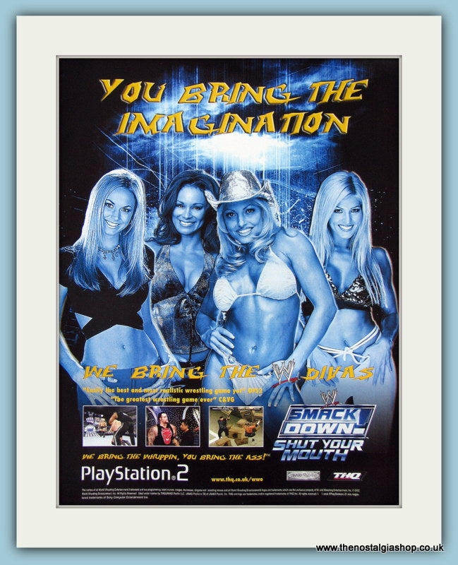 Smack Down Divas Shut Your Mouth Original Advert 2002 (ref AD3957)