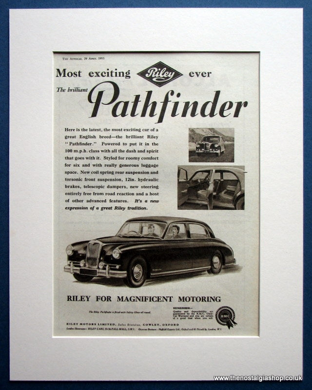 Riley Pathfinder 1955 Original Advert (ref AD1620)