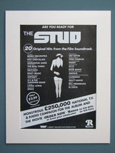 Load image into Gallery viewer, The Stud 1978 Original advert x 2 (ref AD630)