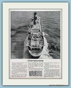 United States Lines Original Advert 1963 (ref AD2305)