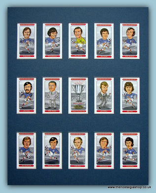 Rangers Euro Kings 1972. Mounted Card Set.