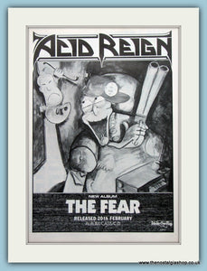 Acid Reign The Fear 1989 Original Advert (ref AD3175)