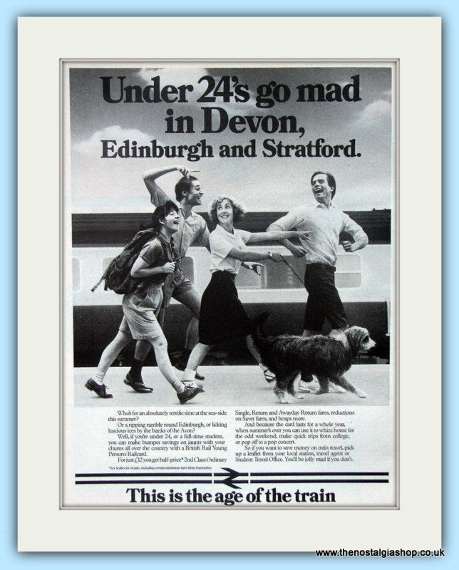 British Rail Young Persons Railcard Original Advert 1984 (ref AD6546)