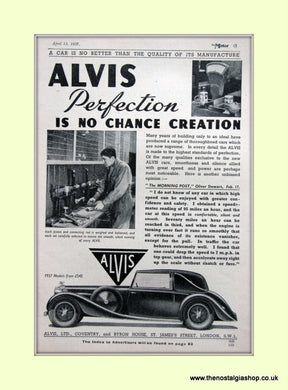 Alvis Perfection 1937 Original Advert (ref AD6622)
