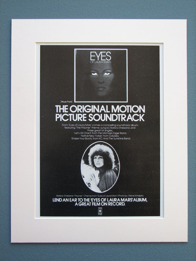 Eyes of Laura Mars 1978 Original advert (ref AD704)