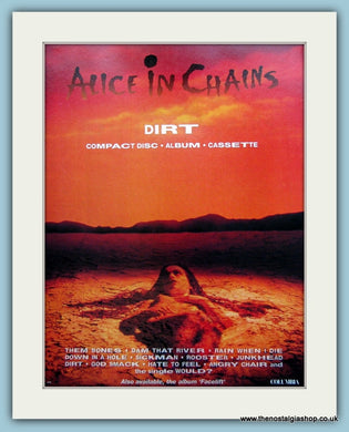 Alice in Chains Dirt Original Advert 1993 (ref AD3097)
