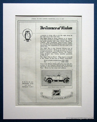 Buick 4 Majestic Tourer. Original advert 1924 (ref AD1024)