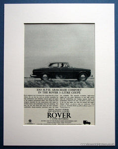 Rover 3 Litre Coupe 1964 Original Advert (ref AD 1636)