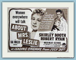 About Mrs Leslie 1954 Original Film Advert (ref AD3331)