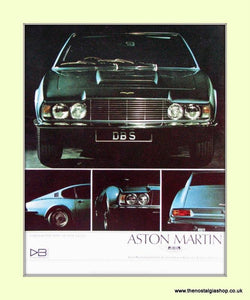 Aston Martin Set Of 2 Original Adverts 1968 (ref AD6688)