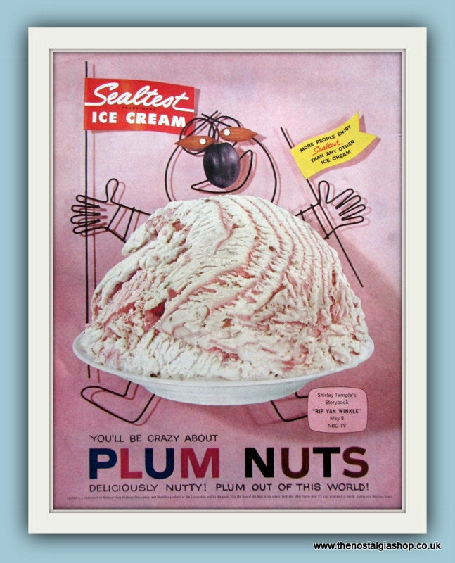 Sealtest Ice Cream Original Advert 1958 (ref AD8139)