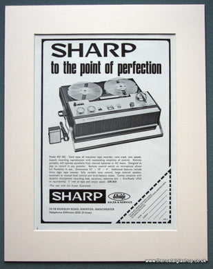 Sharp Tape Recorder 1968 Original Advert (ref AD1086)
