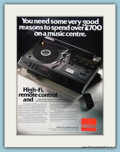 Sharp Hi-Fi Original Advert 1978 (ref AD3873)