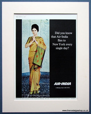 Air India Original advert 1966 (ref AD969)