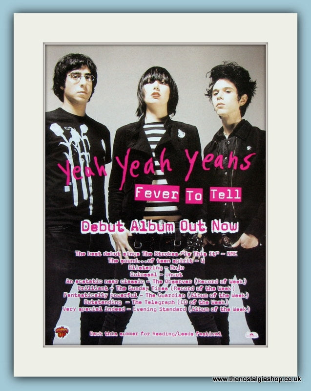 Yeah Yeah Yeahs Fever To Tell 1998 (ref AD2887)