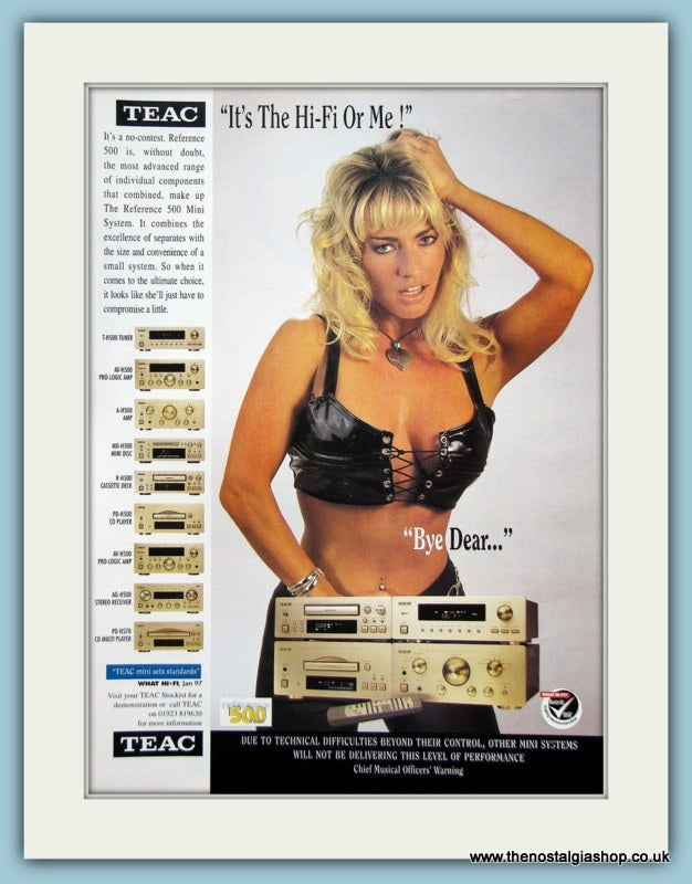 Teac Hi-Fi Original Advert 1997 (ref AD3871)