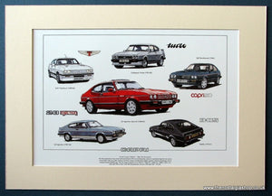 Ford Capri Mk III The Performers. Mounted Print (ref PR56)