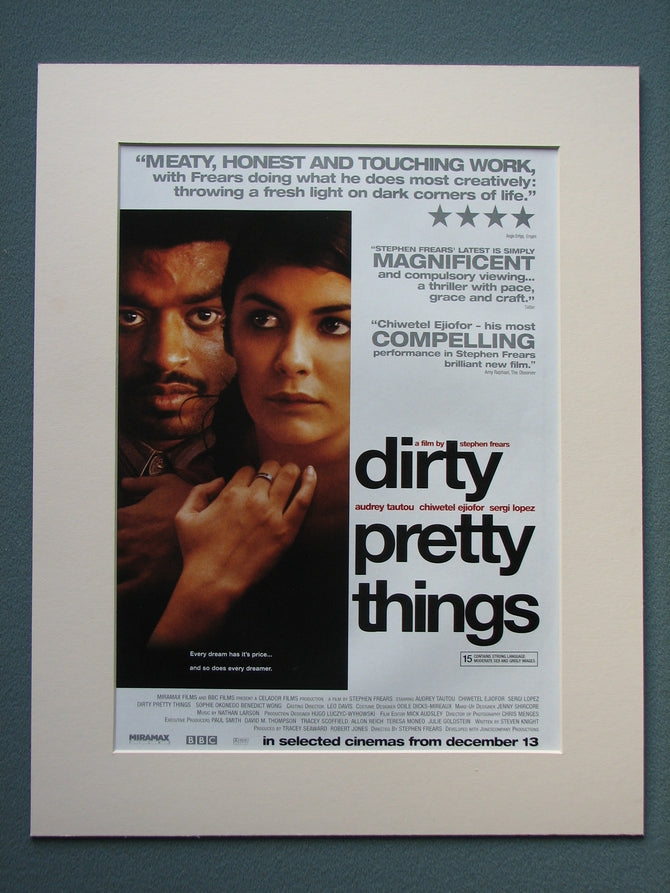 Dirty Pretty Things 2003 Original advert (ref AD790)