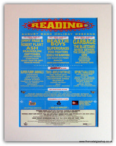 Reading Festival 1998 Advert. Page & Plant, Beastie Boys, (ref AD1826)