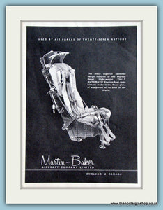 Martin Baker Ejection Seats. Original Advert 1957 (ref AD4239)