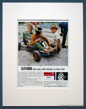 Load image into Gallery viewer, Ilford Colour Film Set Of 3 Original Adverts 1963 (ref AD1078)