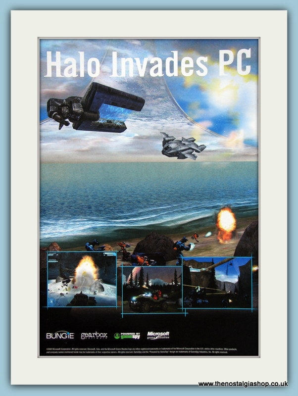 Halo Invades PC Original Advert 2003 (ref AD4010)