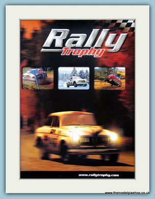Rally Trophy Computer Game Original Advert 2001 (ref AD4015)