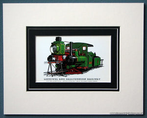 Listowel And Ballybunion Railway 0-3-0 Twin Loco Mounted Print (ref SP80)