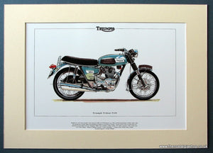 Triumph Trident T150. Mounted Motorcycle Print (ref PR3014)