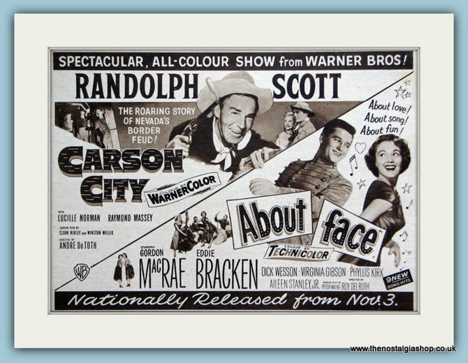 Carson City starring Randolph Scott, 1952 Original Advert (ref AD3204)