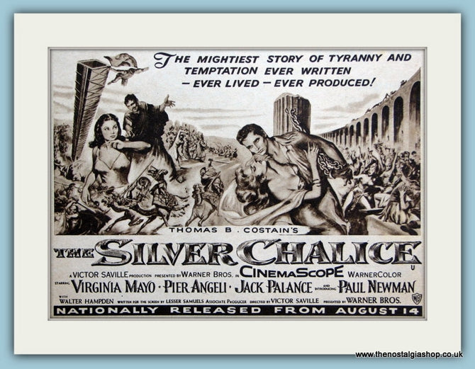 The Silver Chalice starring Virginia Mayo, 1955 Original Advert (ref AD3230)