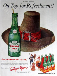 Canada Dry Ginger Ale Original Advert 1951 (ref AD4016)