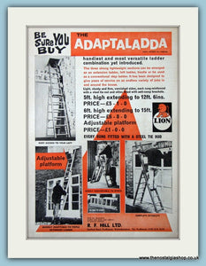 Adaptaladda Extending Ladder Original Advert 1964 (ref AD4674)