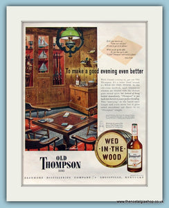 Old Thompson Whiskey Original Advert 1947 (ref AD8254)
