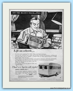 Sprite Major Mk 4 Caravan Original Advert 1956 (ref AD6355)