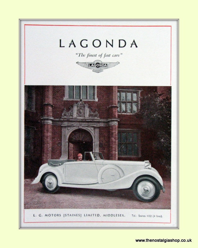 Lagonda Original Advert 1936 (ref AD6730)