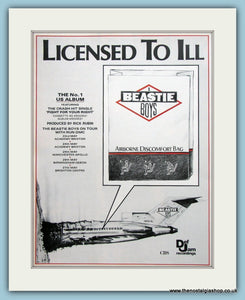 Beastie Boys Licensed To ill 1987 Original Music Advert (ref AD3450)