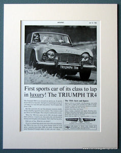 Triumph TR4 1963 Original Advert (ref AD1240)