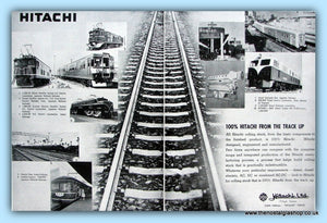 Hitachi Manufacture Trains Original Advert 1962 (ref AD6517)