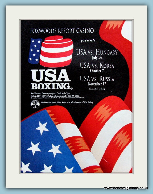 Foxwoods Resort Casino, USA Boxing 1998 Original Advert (ref AD4396)