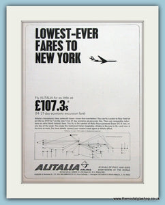 Alitalia Airlines Original Advert 1964 (ref AD2180)