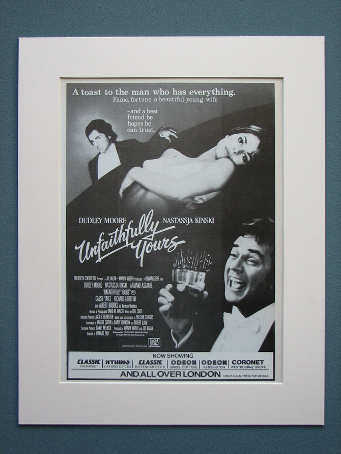 Unfaithfully Yours 1984 Original Advert (ref AD564)