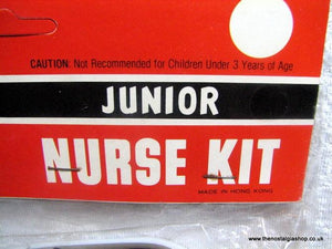 Junior Nurse Kit. Child's Toy  1960s, 70s, Unused (ref Nos100)
