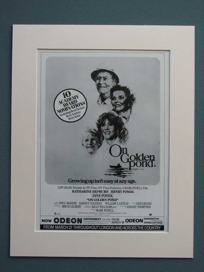 On Golden Pond 1981 Original advert (ref AD615)
